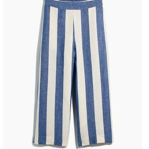Brand New Madewell Striped Linen Pants (Size M)